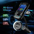 VicTsing Bluetooth 5.0 Handsfree Car FM Transmitter MP3 Player USB Fast Charger
