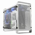 Aluminum mini ITX Desktop Computer Case Transparent Panel for SFX Power Supply