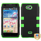 Impact Hard Case w/Silicone Protector Hybrid TUFF Cover for LG MS870 Spirit 4G