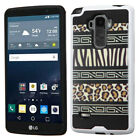 For LG G Vista 2/G Stylo Brushed Impact Armor Hybrid Protector Case Cover