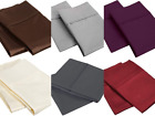 100% Premium Cotton KING PILLOWCASES All Colors 400 Thread Count Hotel Quality image
