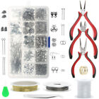 Jewelry Making Supplies Starter Kit Earring Findings Beading Wires Pliers Set
