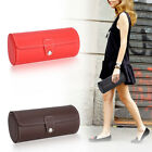 Unique Watch PU Roll Holder Rings Earrings Display Case Jewelry Gift Storage Box