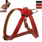 Soft PU Leather Dog Harness Adjustable Walk Vest for Small Puppy Dogs Chihuahua