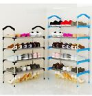 4 To 10 Layers Metal Canvas Standing Shoe Rack Removable Shoe Storage Cabinet