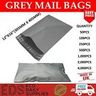 Grey Mailing Bags Strong Postal Postage Post Self Seal All Quantities- 12