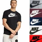 Nike Mens Athletic Wear Short Sleeve Logo Swoosh Printed Gym Active T Shirt