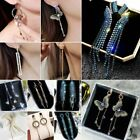 Fashion Long Tassel Crystal Earrings Women Drop Dangle Ear Stud Wedding Jewelry image