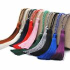 Fashion Silk Tassel Pendant Necklace Crystal Beaded Long Jewelry Sweater Chain