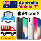 Apple Iphone X 10 256gb Silver Space Grey(black) Lte 4g Unlocked Smartphone