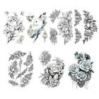 Womens Removable Waterproof Temporary Flower Tattoo Stickers Arm Legs Art Y8m7