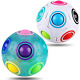 CPSYUB Rainbow Puzzle Ball Cube 2 Pack Magic Rainbow Ball Puzzle Bundle Stress