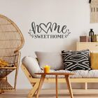 Home Sweet Home Quote Vinyl Wall Decal Sticker Words Lettering Art Decor