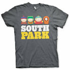 South Park Poster Stan Kyle Kenny and Cartman Official Heather Grey Men T-shirt