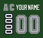 Houston Aeros Customized Number Kit for 1994 2000 Green Jersey