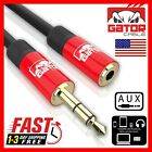 AUX 3.5mm Extension Male to Female Cable Adapter Stereo Audio Headphone Cord 6FT