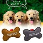 Dog Toy Interactive Chew Bite Resistant Artificial Cowhide Squeak Care H9G3