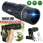 16x52 Monocular Telescope Camera Lens HD Scope Hiking Hunting Phone Holder image