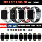 For Apple Watch Sport Band Silicone iWatch Series 5 4 3 2 1 40mm 44mm 38mm 42mm image
