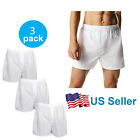 4-12 PACK Men's White Boxer Shorts W/ Comfortable Flex Waistband Cotton Blend