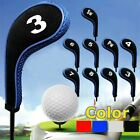 High Quality 10pcs Padded Club Golf Iron Head Covers Protector Case Sock Set