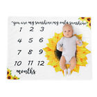 CW HB- Sunflower Soft Baby Monthly Milestone Blanket Swaddling Wrap Photo Prop