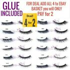 3D Mink False Eyelashes Wispy Cross Long Thick Soft Top & Bottom Eye Lashes