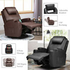 Electric Recliner Massage Chair Leather Sofa Vibrating Heated Foot Rest W/ RC