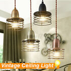 E26/E27 Vintage Loft Pendant Light Cage anging Ceiling Lamp For Coffee