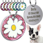 Name Tags for Dogs Flower Round Dog ID Tags Personalised Small Stainless steel