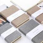 72k 128 Sheets Portable Notebook Blank Paper Linen Cover Diary Memo Sketchbook