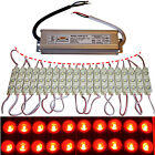 LED Module+Power Supply - Red - Advertising - 12V - 3x 5730 SMD Chip Injection