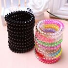 30Pcs Plastic Spiral Coil Telephone Cord Wire Hair Ties Hair Ring Bands Ne @vt