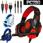 3.5mm Gaming Headset with Mic&LED Lights, Stereo Headphones for PC/Xbox One/PS4