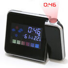 LED Projection Alarm Clock Weather Station Thermometer Digital Clock USB Charger