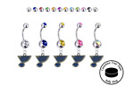 St Louis Blues Silver Belly Button Navel Ring - Customize Gem Color - NEW $39.99 USD on eBay
