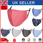 Face Mask PM 2.5 Filter Cotton Polka Dot Reusable Washable Protective Covering