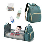 Baby Travel Mommy Diaper Bag Changing Bed Backpack Foldable Cot Crib Bassinet