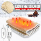 Flannel Electric Heated Blanket Heater Warmer Bedding Warm Bed  Double  NEW