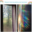 3D Decorative Privacy Window Film Non Adhesive Frost Pattern Rainbow Effect UK