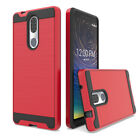 For Coolpad Legacy/Alchemy Shockproof Slim Rugged Dual Armor Case+Tempered Glass