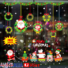 Christmas Wall Stickers Adhesive Window Decals Santa Xmas Festival Home Decor