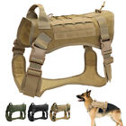 Tactical Dog Harness MOLLE Vest with Handle No Pulling for Large Breeds Training