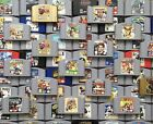 Nintendo 64 N64 Original Video Game Cartridges *Authentic* *Cleaned* *Tested*