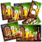 BEER BARREL MUG GLASSES HOPS LIGHT SWITCH OUTLET WALL PLATES KITCHEN DINER DECOR