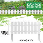 12/24PCS Backyard Plastic Fence Garden Edging Border Panel Flower Yard Decor