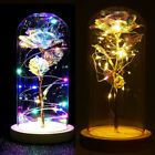 Galaxy Rose Flower In Dome Glass Led Night Light Valentine's Day Gift Xmas Decor