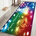 Flannel Christmas Theme Printed Home Indoor Non-slip Mat Thicken Rug Household