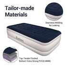 Inflatable King High Raised Air Bed Mattress Airbed W/ Built in Electric Pump
