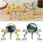 Home Decor Crystal Ball Base Metal Holder Sphere Stone Support Display Stand